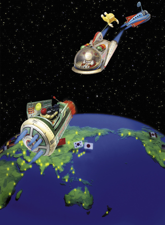spacecraft: Earth and spacecraft