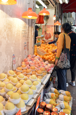 coulomb: Hong Kong fruit shop