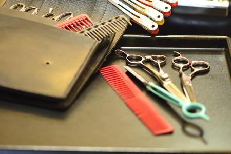 razor: Beauty scissors and razor Stock Photo