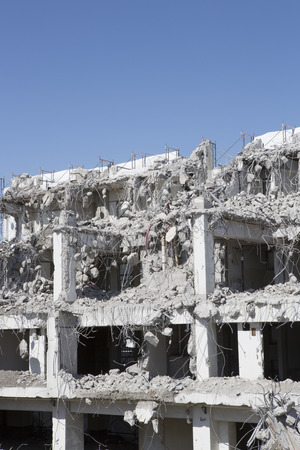 disassemble: Demolition of buildings Stock Photo