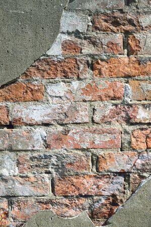 コンクリートとレンガの壁