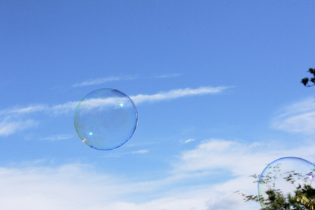 radiancy: Blue sky and bubbles
