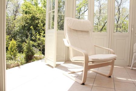 luz natural: Un invernadero silla