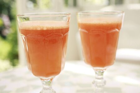 enzyme: Healthy carrot juice Stock Photo