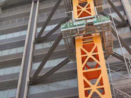reinforcing: Reinforcing steel frame of the crane