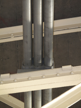 water pipe: Water pipe under the bridge