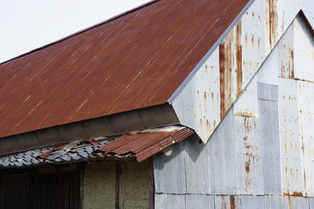 depreciation: Rusty tin roof