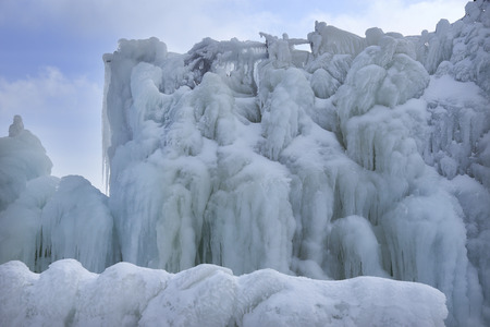icefall: Icefall of Gozaisho Stock Photo