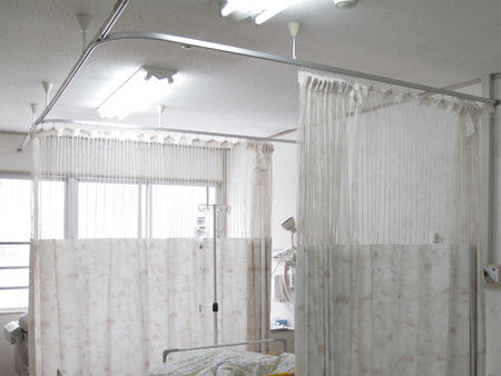 window treatments: Partition curtain of a hospital room