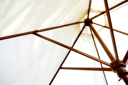 awnings: Awnings parasol Stock Photo