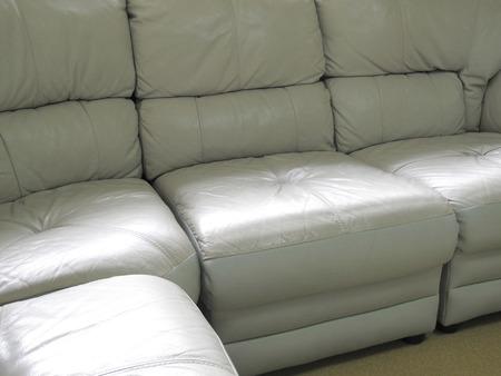 sofa: Leather sofa