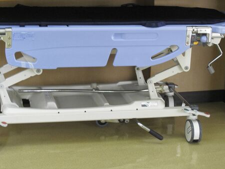 hospitalization: Hospital stretcher