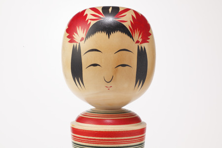limbless: Face of Miyagi tradition Naruko Kokeshi Stock Photo