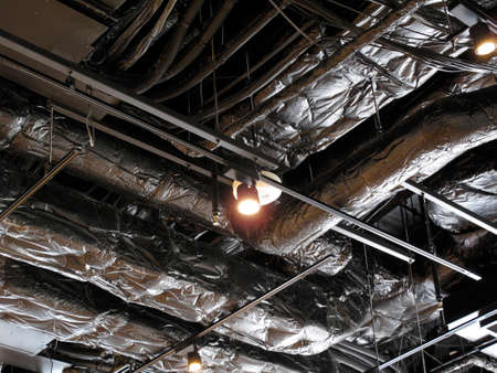 duct: The ceiling of the air conditioning duct