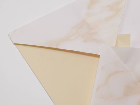 casing paper: Wrapping paper with a fold Stock Photo