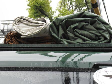 tarpaulin: Tarpaulin truck
