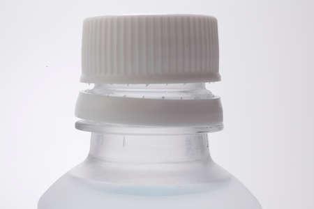 botellas pet: Apertura antes de botellas de PET Foto de archivo