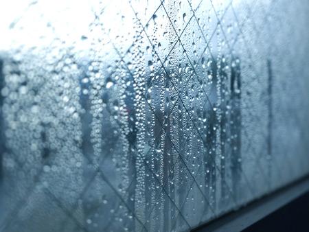 condensacion: La condensación del cristal de la ventana