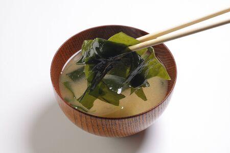 algas marinas: Alga marina sopa de miso