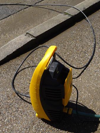 machine � laver: Nettoyage � haute eau nettoyeur haute pression Banque d'images