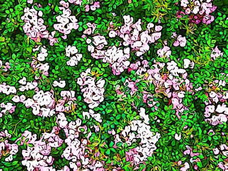 tone: Illustration tone of flower beds Stock Photo