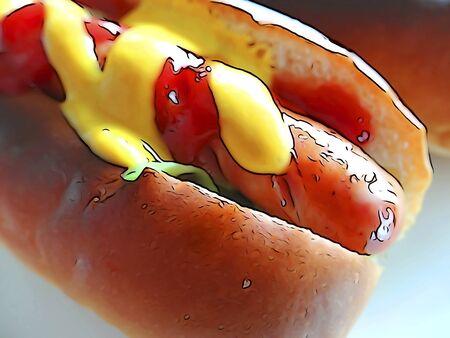 tone: Hot dog illustrations tone