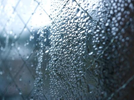condensation: La condensación del cristal de la ventana