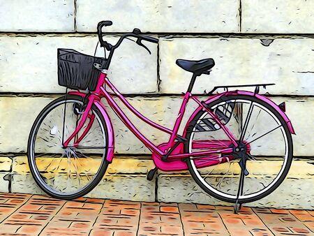 Illustration tone bicycle