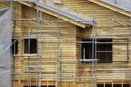新築の木造住宅の建設サイトを構築