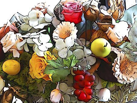 tone: Illustration tone bouquet of Stock Photo