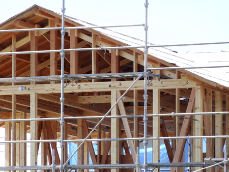 Wooden house building work