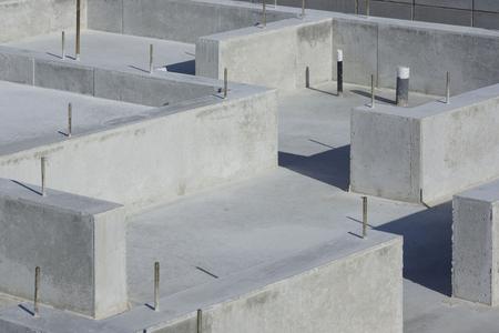 住宅のコンクリート基礎工事 写真素材