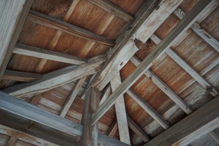 attic: Attic of the wooden building