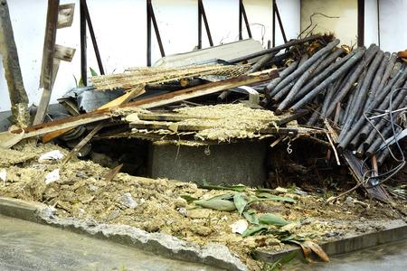 demolition: Demolition of houses Stock Photo