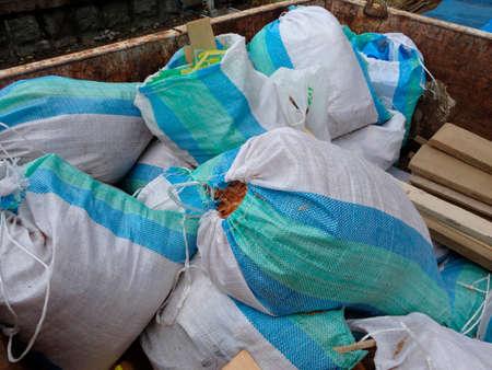 建築工事現場の廃棄物