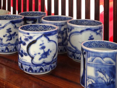 tableware: Japanese-style tableware Stock Photo