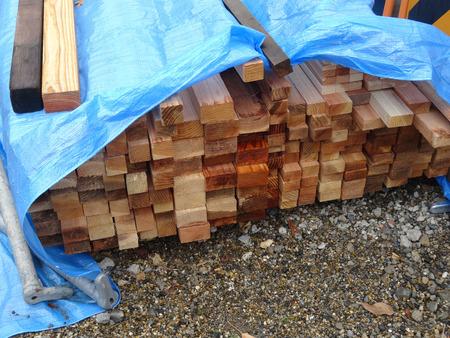 木の建築施工現場