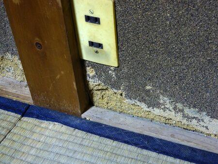 decrepit: Decrepit room wall Stock Photo