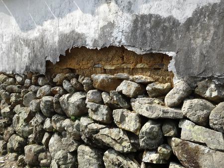 decrepit: Earthen wall that was decrepit