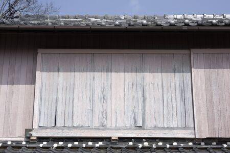 wicket door: Shutters of houses