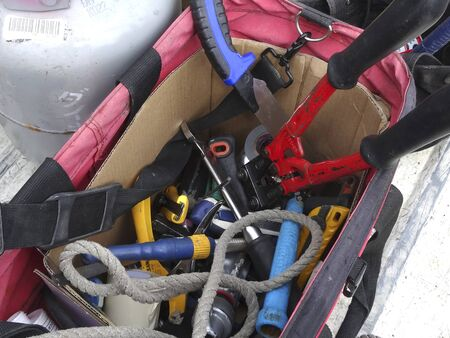 tool bag: Tool bag of electrical work