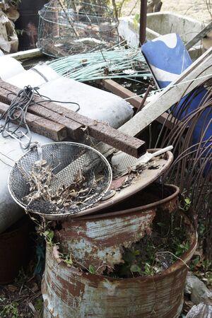 scrap iron: The rotten iron scrap
