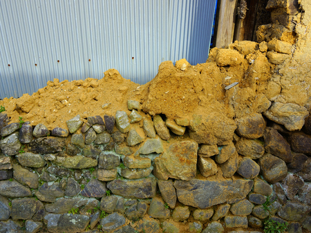earthen: Collapsed earthen wall