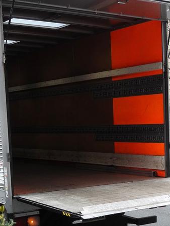 内部輸送トラックの荷台 写真素材
