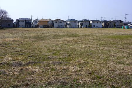 vacant land: New residential and vacant land Stock Photo