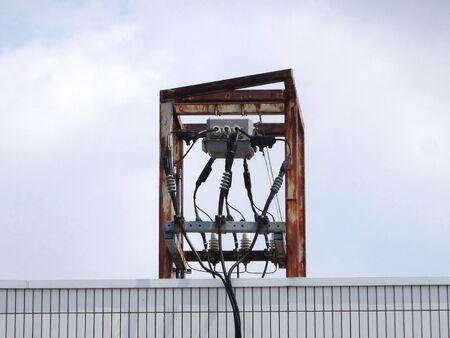 electrical equipment: Electrical equipment of the building rooftop