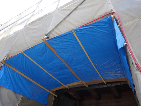 curing: Curing sheet of building construction site