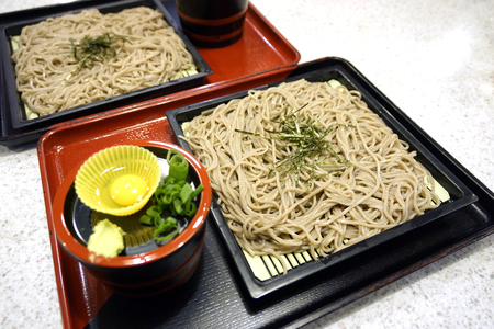 japanese quail: Zaru Soba Stock Photo