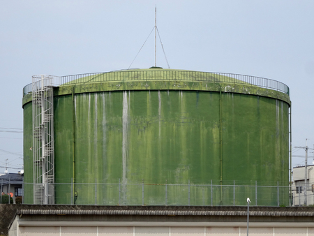 water supply: Water supply tank of residential areas Stock Photo