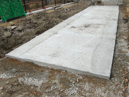 solid: Solid foundation of concrete